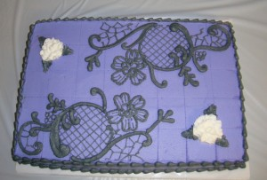 Purple sheet cake