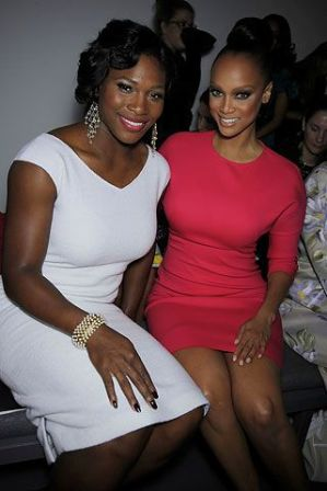 Serena Williams and Tyra Banks Courtesy of Style.com