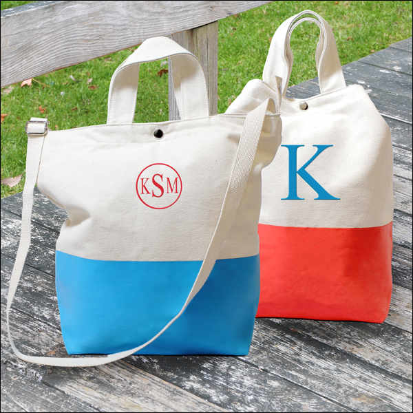 Color Dipped Canvas Tote Bag