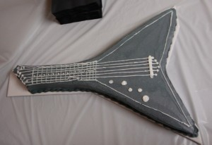 Guitar Shaped Groom's Cake