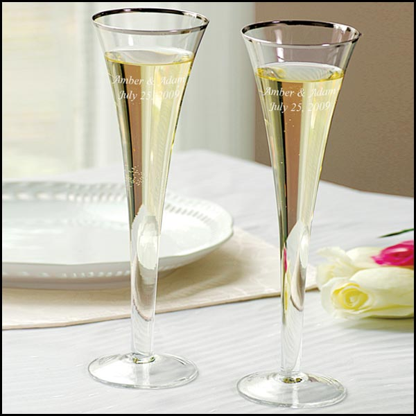 Trumpet Wedding Toasting Flutes