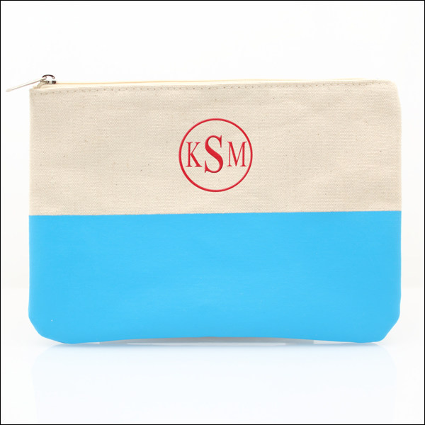 canvas color dipped clutch