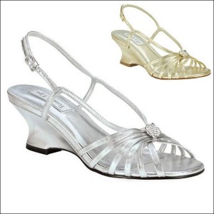 Anastasia Metallic Evening Shoe