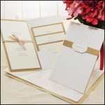 Ivory & Copper Pocket Folder Invitations Kit
