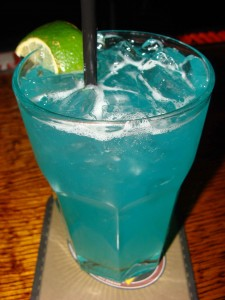 Blue Margarita with Blue Curacao