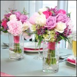 Flower Bouquet Reception Vase with beautiful pink flowers