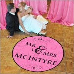Mr. & Mrs. Wedding Dance Floor Decal in pink